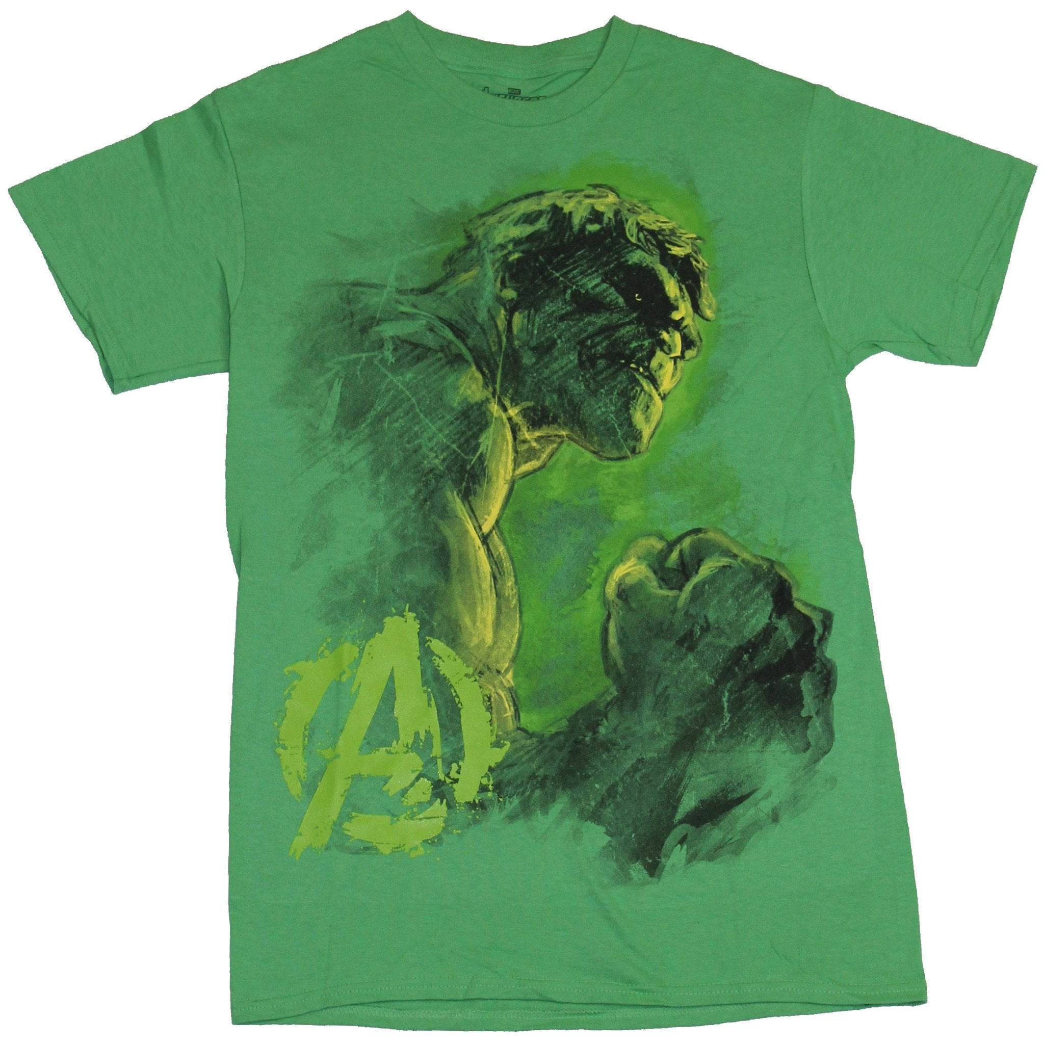 Hulk (Marvel Comics) Mens T-Shirt - Incredible Sketchy Big Fist Hulk Image