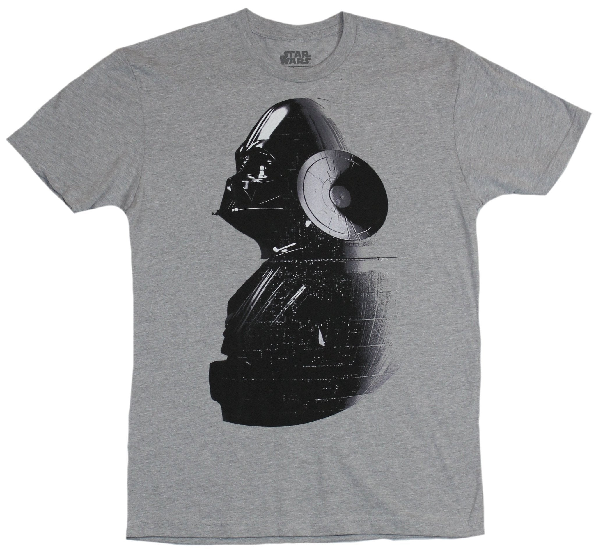 Star Wars Mens T-Shirt - Darth Vader Under Death Star Image