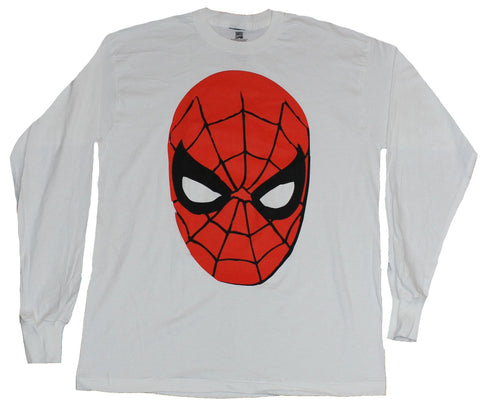 Spider-Man (Marvel Comics) Long Sleeve Mens T-Shirt - Classic Spidey Face