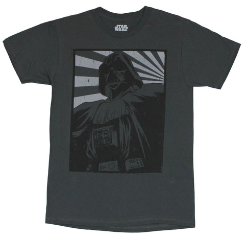 Star Wars Mens  T-Shirt -  Darth Vader Rising Sun Poster Image