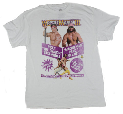 Wrestlemania II Mens T-Shirt - Event Poster Macho Man vs. Ricky Steamboat