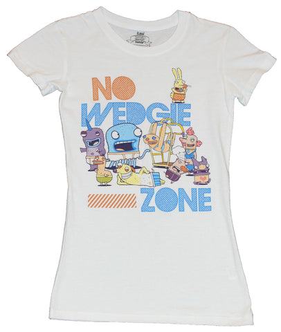 "Almost Naked Animals Girls Juniors T-Shirt - ""No Wedgie Zone"" Crazy Logo"