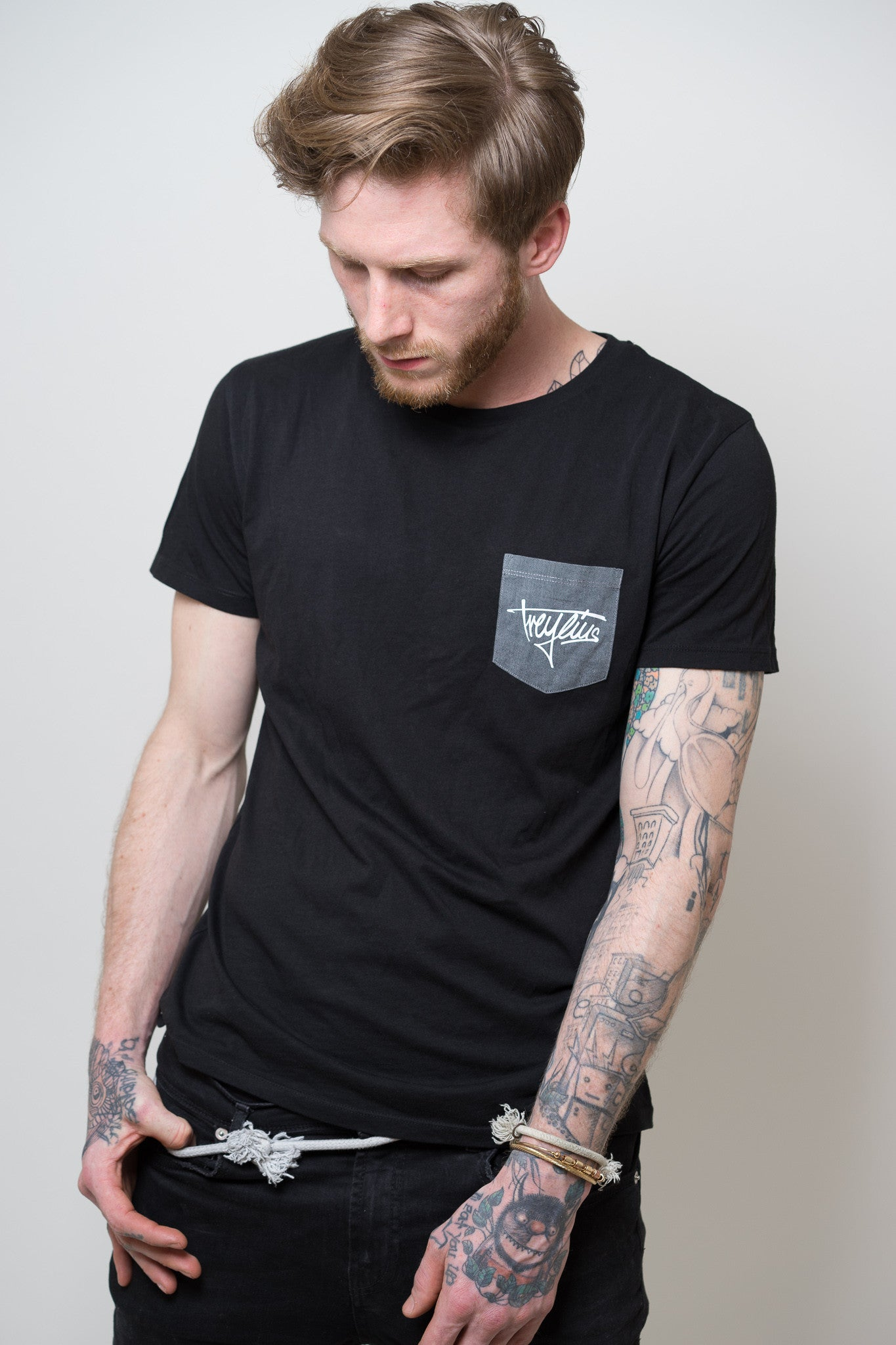 Pocketshirt black / grey