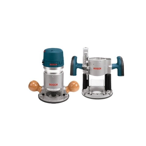 Bosch 1617EVSPK 2HP Combination Plunge Router & Fixed Base Router Pack