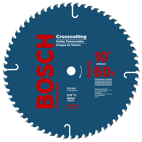 "Bosch CB1060 10"" 60T Construction Circular Saw Blade"