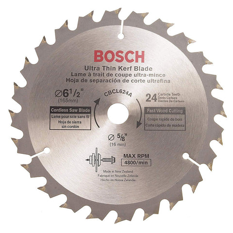 "Bosch CBCL624A 6-1/2"" 24 T Circular Saw Blade for Cordless Saw"