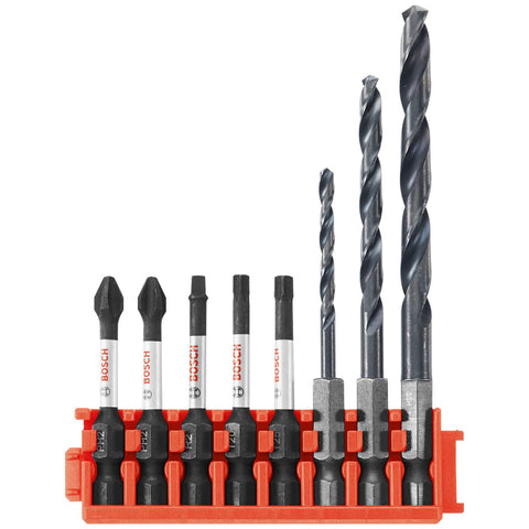 Bosch CCSDDV08 8-Pc Impact Tough Black Oxide Drill and Drive Bits