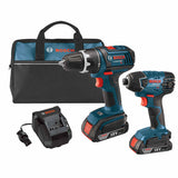 Bosch CLPK232-181 18V Lithium-Ion Drill / Driver and Impact Driver 2-Piece Combo Kit