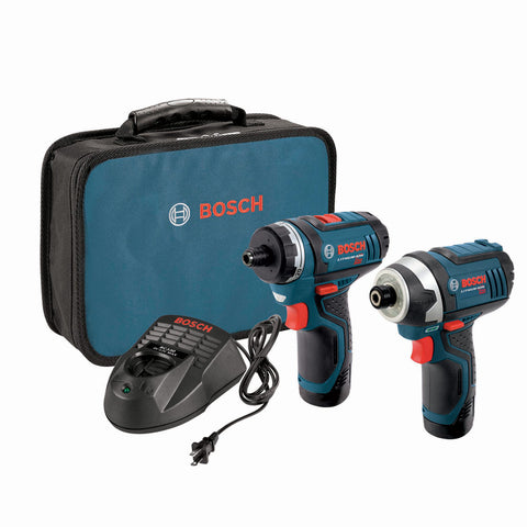 Bosch CLPK27-120 12V Max Lithium-Ion Pocket Driver and Impact Driver 2-Piece Combo Kit