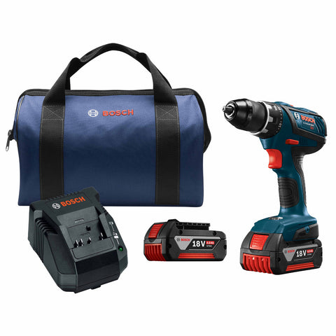 "Bosch DDS181A-01 18V Compact Tough 1/2"" Drill/Driver Kit"