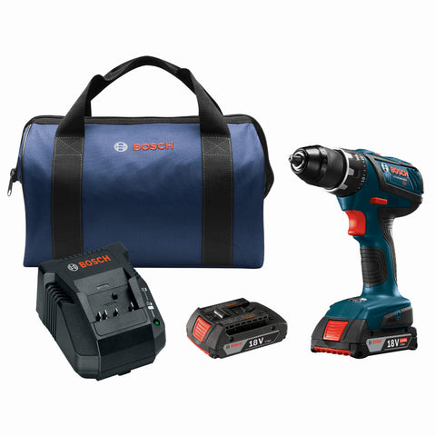 "Bosch DDS181A-02 18V Compact Tough 1/2"" Drill/Driver Kit"