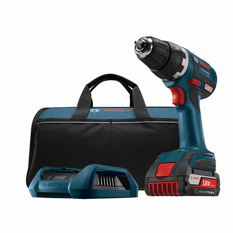 "Bosch DDS182WC-102 18V EC Brushless Compact Tough 1/2"" Drill/Driver"