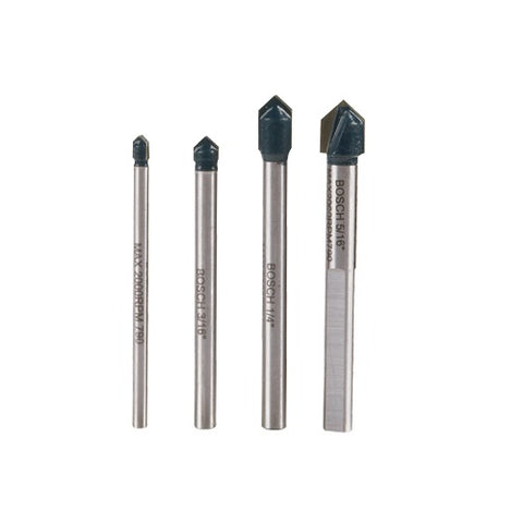 Bosch GT2000 4 Piece Glass and Tile Bit Set
