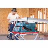 "Bosch GTS1041A-09 10"" REAXX Jobsite Table Saw, Gravity-Rise Wheeled Stand"