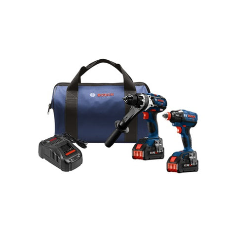 Bosch GXL18V-225B24 18V 2-Tool Combo Kit with 2 CORE18 V 6.3 Ah Batteries