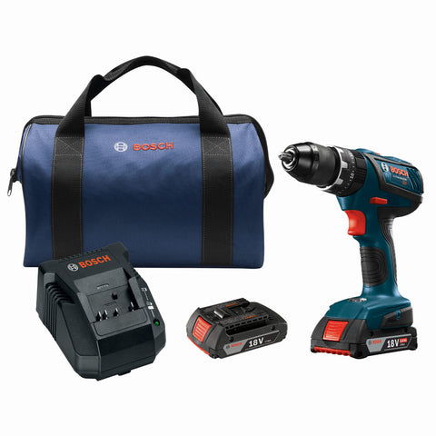 "Bosch HDS181A-02 18V Compact Tough 1/2"" Hammer Drill/Driver Kit"