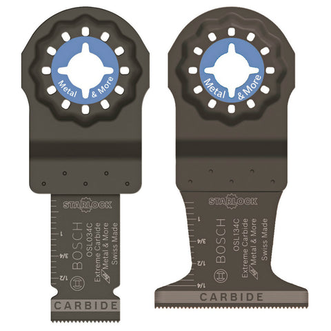 Bosch OSL002CH Starlock Oscillating Multi-Tool Accessory Blade Set 2 Pack