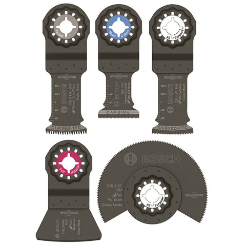 Bosch OSL005C Starlock Oscillating Multi-Tool Accessory Blade Set 5 Pack