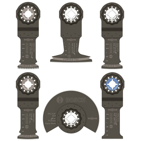 Bosch OSL006 Starlock Oscillating Multi-Tool Accessory Blade Set 6 Pack
