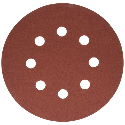 "Bosch SR5R242 5"" 240 Grit 8 Hole Hook-And-Loop Sanding Discs, 25 Pack"