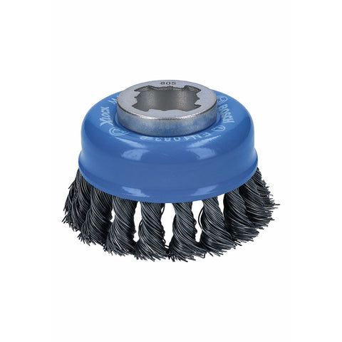 "Bosch WBX328 3"" Cup Brush, Knotted, Carbon Steel"