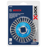 "Bosch WBX408 4-1/2"" Wire Wheel, Stringer Bead Knotted, Carbon Steel"