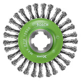 "Bosch WBX409 4-1/2"" Wire Wheel, Stringer Bead Knotted, Stainless Steel"