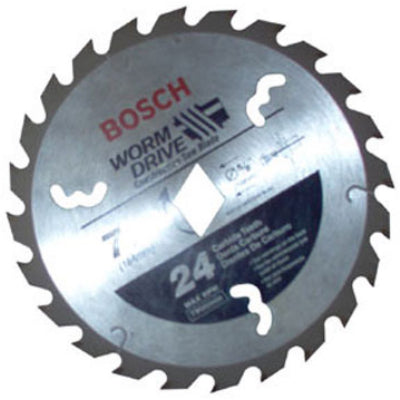 "Bosch WD724B 7-1/4"" 24 Tooth Carbide Tipped Circular Saw Blade for Worm Drive Saws"