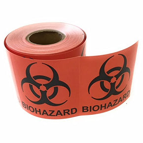 "Biohazard Warning Stickers, 2"" x 2"", Coated Paper, Universal Biohazard Symbol, Permanent self Adhesive, 250 per roll (2x2) - RingBinderDepot.com"