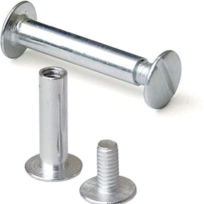 Silver Aluminum Screw Posts/Chicago Post, 100 Pack, 1 1/4-Inch