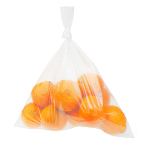 Clear Plastic Bags, 12 x 18 Inches, 100 Pack, Flat with Opening on One Side