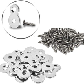 40 Pack Heavy Duty Figure-Eight Fasteners Desk Top Connector with Screws