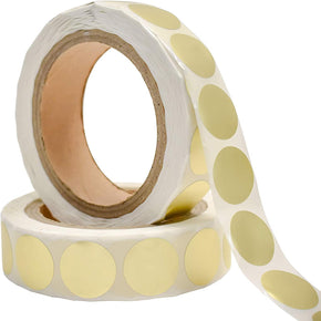 "2"" Gold Round Stickers, Color Dot Labels 300 Per Roll, Self-Adhesive by Toucan Craft Supplies"