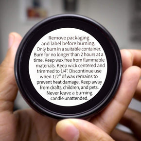 Candle Warning Stickers, 1.5 inch Round Label, Sticker Decal for Candle Jars, Tins and Votives - 300 Labels