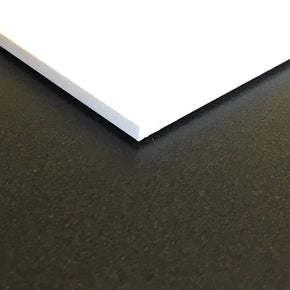 Expanded PVC Sheet - Lightweight Rigid Foam - 6mm (1/4 inch) - 12 x 12 inches - White - Ideal for Signage, Displays, and Digital/Screen Printing