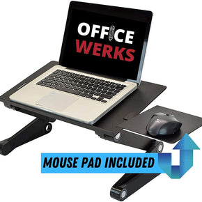 Officewerks Adjustable and Portable Computer Laptop Stand/Desk with Mouse Pad, Ergonomic Design