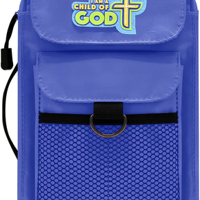 Children's Bible Cover - Blue - Medium Size