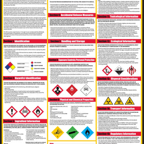 How To Read A Safety Data Sheet (SDS/MSDS) Poster, 24 x 33 Inch, UV Coated Paper - RingBinderDepot.com