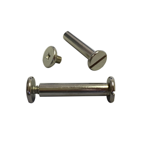 "Silver Nickel Screw Posts, 1 1/2"", 100 pack - RingBinderDepot.com"