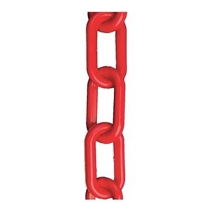 Plastic Chain, 2 In x 300 ft, Red - StaplermaniaStore