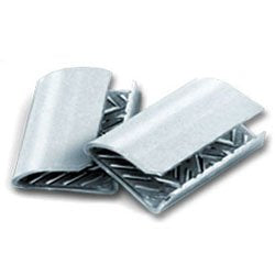 "Serrated Seals for Plastic Strapping - 1/2"" 1,000/Box"