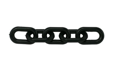 "Plastic Barrier Chain, 2"" Diameter, 100' Length, Black - StaplerManiaStore"