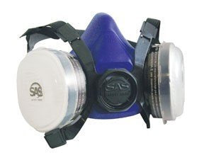 Halfmask for Particle Filtration with Cartridge Filter- Large  SAS Safety 8661-93 - StaplerManiaStore