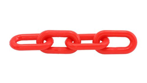 "500 Feet of 1"" Red Plastic Chain - StaplermaniaStore"