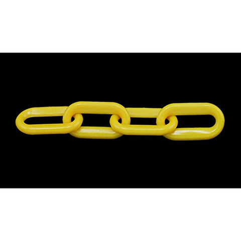 "Plastic Chain - 1-1/2"" (6MM) x 100' - Yellow"
