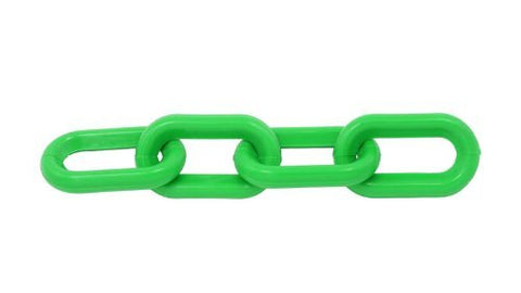 Green Plastic Chain 1.5 Inch (6mm) 50 Feet - StaplerManiaStore