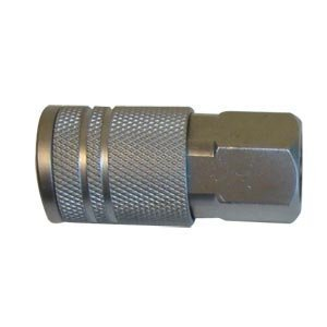 "Interstate Pneumatics CA440 1/4"" Automotive Coupler 1/4"" Female (Steel) - StaplermaniaStore"