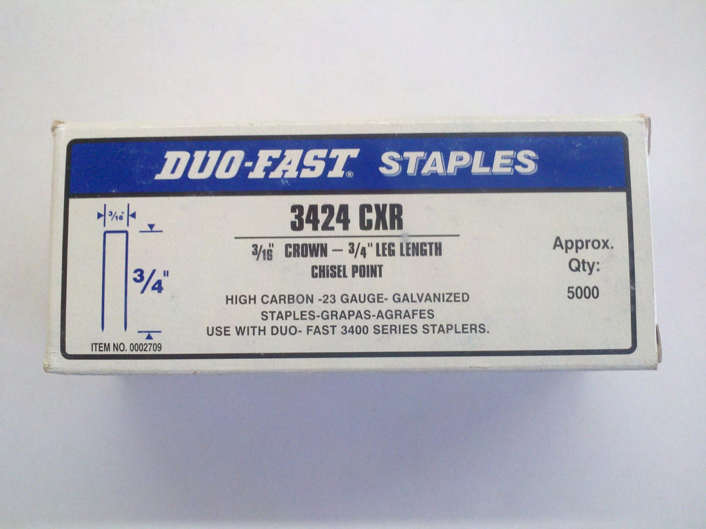 "Duo Fast 3424CXR 3/16"" Crown X 3/4"" Staples - StaplerManiaStore"