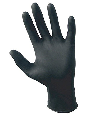 SAS Safety 66520 Raven Powder-Free Disposable Black Nitrile 6 Mil Gloves, XX-Large, 1000 Gloves by Weight (Case of 10 Boxes / 100) - StaplerManiaStore