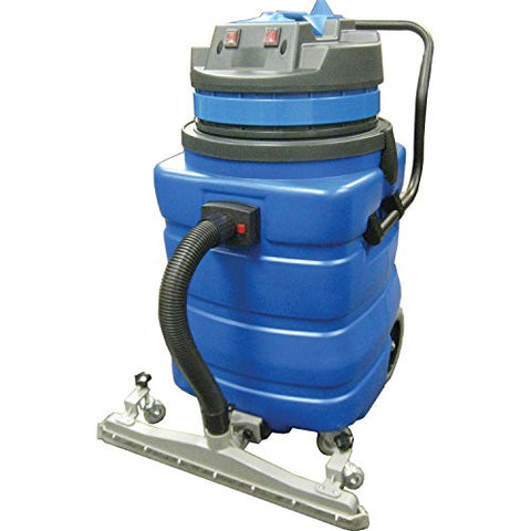 Perfect Products 23 Gallon Two-2 Stage Motor Wet/Dry Vac w/5-Piece Tool Kit & Squeegee, Blue - StaplermaniaStore